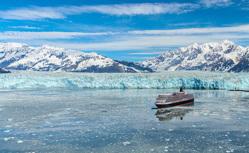 アラスカ 二大氷河を巡る太平洋横断クルーズ21日間